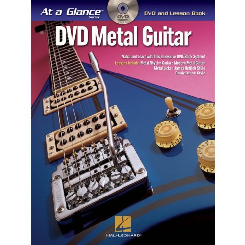HAL LEONARD AT A GLANCE METAL GUITAR + DVD - GUITAR TAB