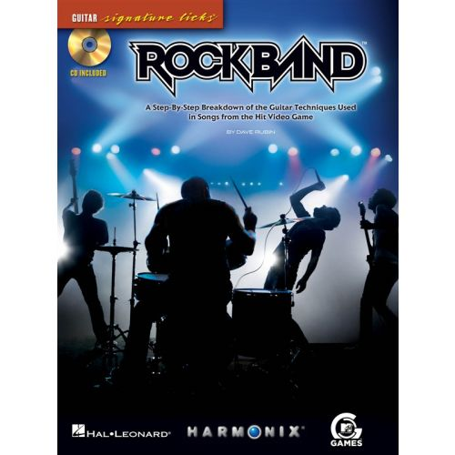 HAL LEONARD ROCK BAND GUITAR SIGNATURE LICKS TAB + CD - GUITAR