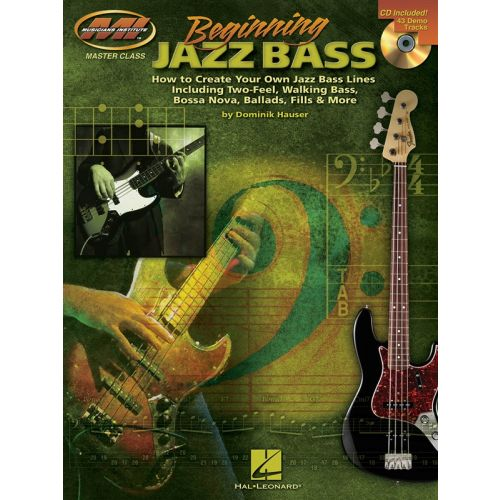 MUSIC SALES BEGINNING JAZZ BASS BLUES B+ CD - BASS GUITAR TAB