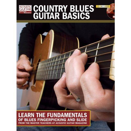 HAL LEONARD COUNTRY BLUES GUITAR BASICS + CD - GUITAR