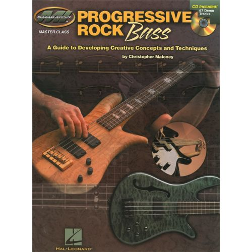 MUSIC SALES MUSICIANS INSTITUTE PROGRESSIVE ROCK BASS CONCEPTS TECHNIQ TAB + CD - BASS GUITAR TAB