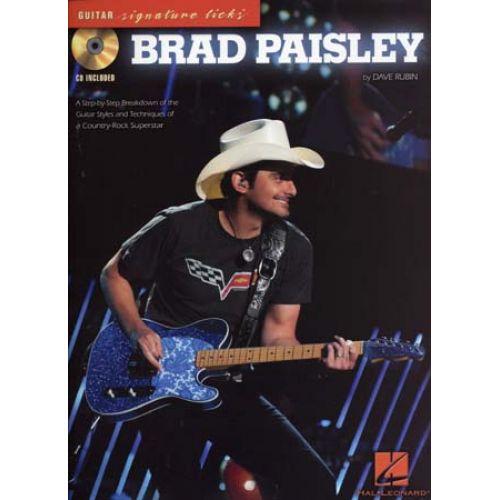 HAL LEONARD PAISLEY BRAD GUITAR SIGNATURE LICKS + CD