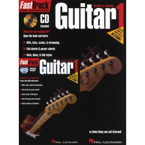 HAL LEONARD FAST TRACK STARTER PACK GUITAR + CD/DVD PACK - GUITAR