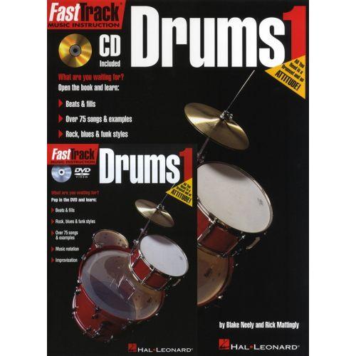 HAL LEONARD FAST TRACK STARTER PACK DRUMS + CD/DVD - DRUMS