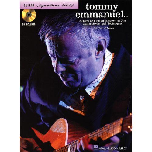 HAL LEONARD TOMMY EMMANUEL SIGNATURE LICKS STEP BY STEP BREAKDOWN GUITAR TAB + CD - GUITAR
