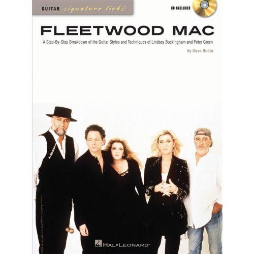 HAL LEONARD FLEETWOOD MAC - SIGNATURE LICKS FOR GUITAR TAB + CD - GUITAR