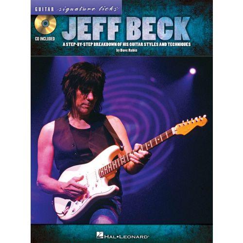 HAL LEONARD BECK JEFF SIGNATURE LICKS STEP BY STEP BREAKDOWN GUITAR + CD - GUITAR