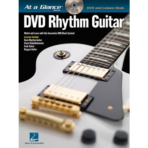 HAL LEONARD AT A GLANCE DVD RHYTHM GUITAR TAB + DVD - GUITAR TAB
