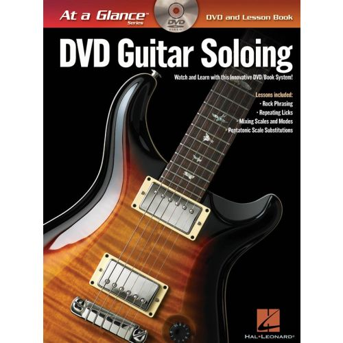 HAL LEONARD AT A GLANCE GUITAR SOLOING + DVD - GUITAR