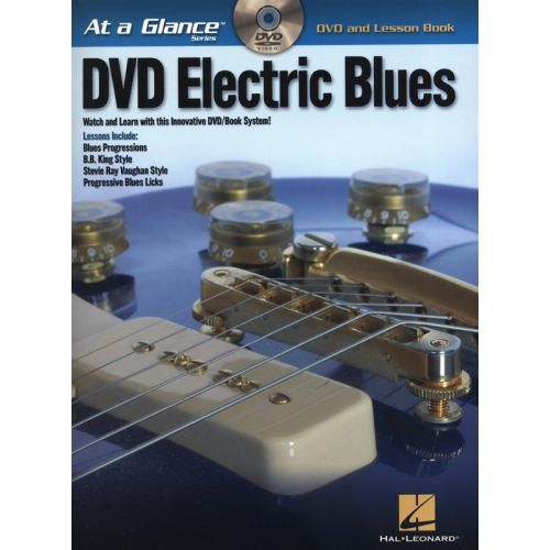 HAL LEONARD AT A GLANCE DVD ELECTRIC BLUES + DVD - GUITAR