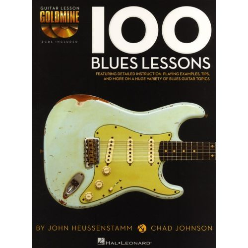 HAL LEONARD GUITAR LESSON GOLDMINE 100 BLUES LESSONS+ 2CD - GUITAR TAB