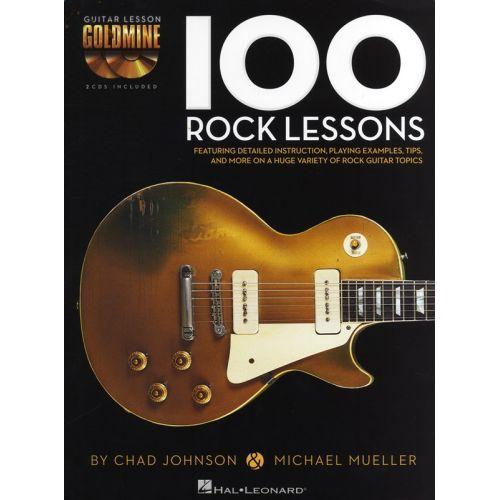 HAL LEONARD GUITAR LESSON GOLDMINE - 100 ROCK LESSONS - GUITAR