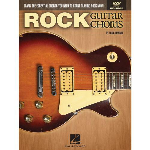 HAL LEONARD JOHNSON CHAD ROCK GUITAR CHORDS LEARN ESSENTIAL + DVD - GUITAR