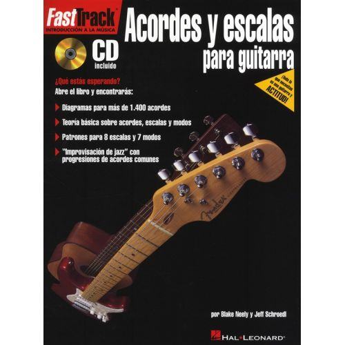 HAL LEONARD FAST TRACK GUITAR CHORDS AND SCALES SPANISH EDITION + CD - GUITAR