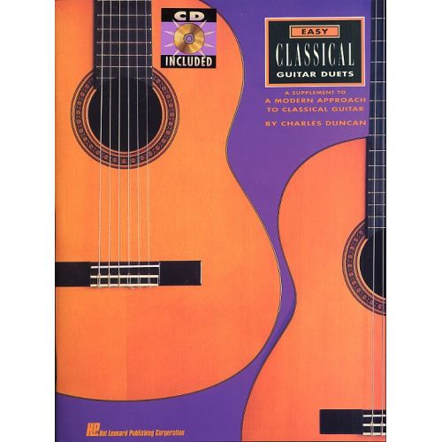 HAL LEONARD EASY CLASSICAL GUITAR DUETS + CD - CLASSICAL GUITAR