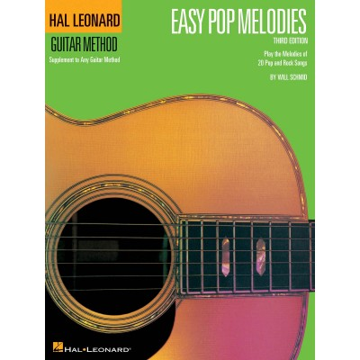 HAL LEONARD EASY POP MELODIES - GUITARE