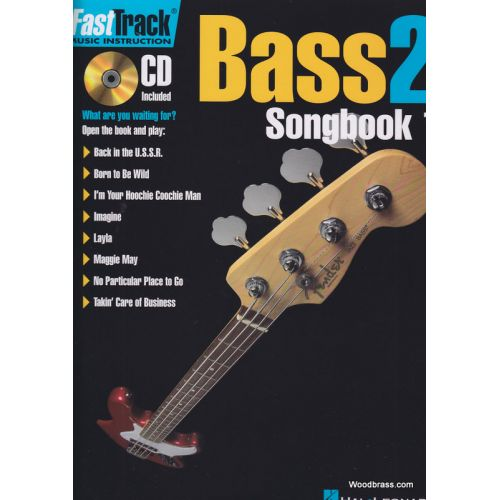 HAL LEONARD FAST TRACK BASS - LEVEL 2 SONGBOOK VOL.1 + CD - BASSE