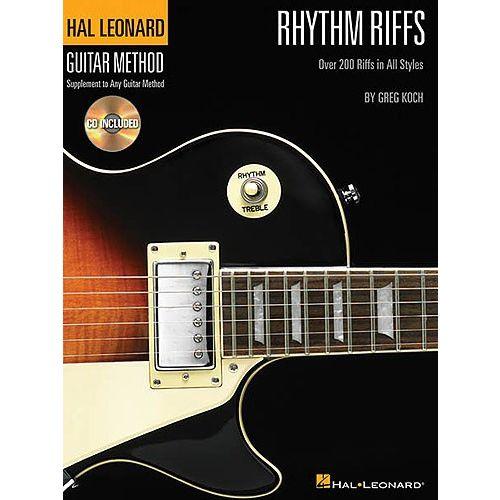 HAL LEONARD HAL LEONARD GUITAR METHOD RHYTHM RIFFS + CD - GUITAR