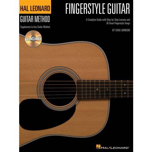 HAL LEONARD FINGERSTYLE GUITAR METHOD + CD - GUITAR