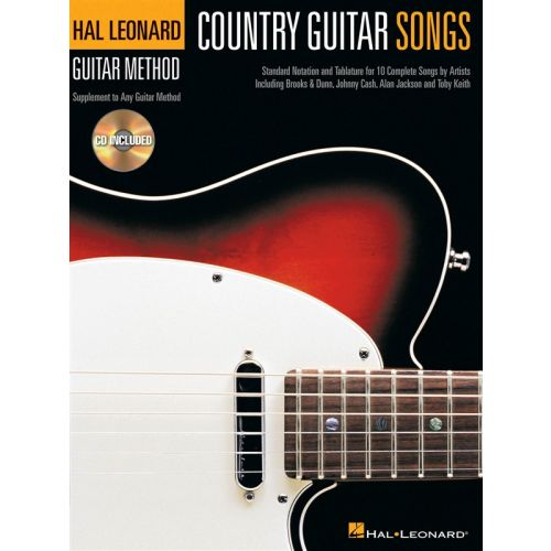 HAL LEONARD COUNTRY GUITAR SONGS TAB + CD - GUITAR