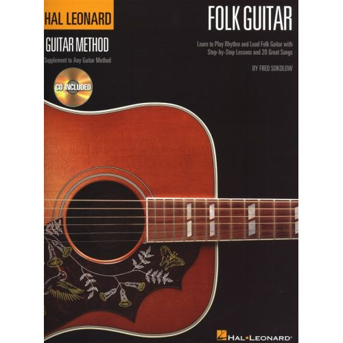 HAL LEONARD SOKOLOW FRED HAL LEONARD GUITAR METHOD FOLK + CD - GUITAR TAB