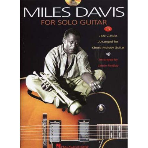 HAL LEONARD DAVIS MILES - 15 JAZZ CLASSICS + CD - SOLO GUITAR