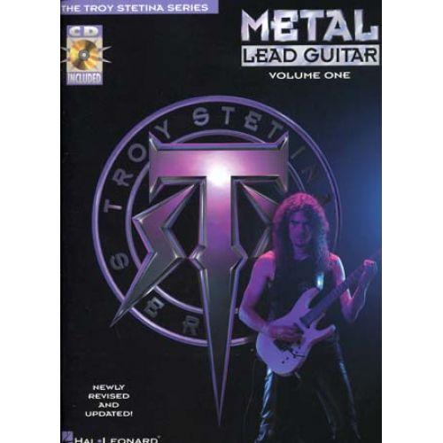 HAL LEONARD STETINA TROY - METAL LEAD GUITAR + CD - GUITAR TAB VOL.1