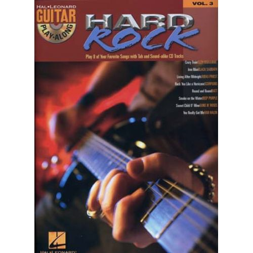 HAL LEONARD GUITAR PLAY ALONG VOL.03 - HARD ROCK + CD - GUITAR TAB
