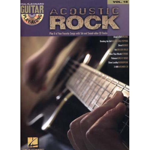 HAL LEONARD GUITAR PLAY ALONG VOL.18 - ACOUSTIC ROCK + CD - GUITAR TAB