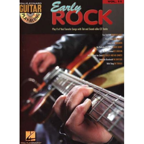 HAL LEONARD GUITAR PLAY ALONG VOL.11 - EARLY ROCK + CD - GUITAR TAB