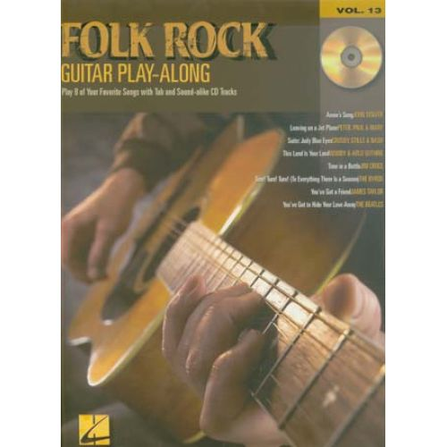 HAL LEONARD GUITAR PLAY ALONG VOL.13 - FOLK ROCK + CD - GUITAR TAB