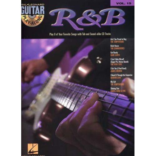 HAL LEONARD GUITAR PLAY ALONG VOL.15 - R&B + CD - GUITAR TAB