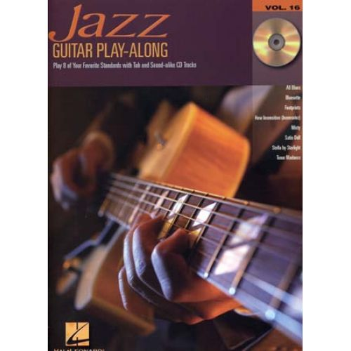 HAL LEONARD GUITAR PLAY ALONG VOL.16 JAZZ TAB CD