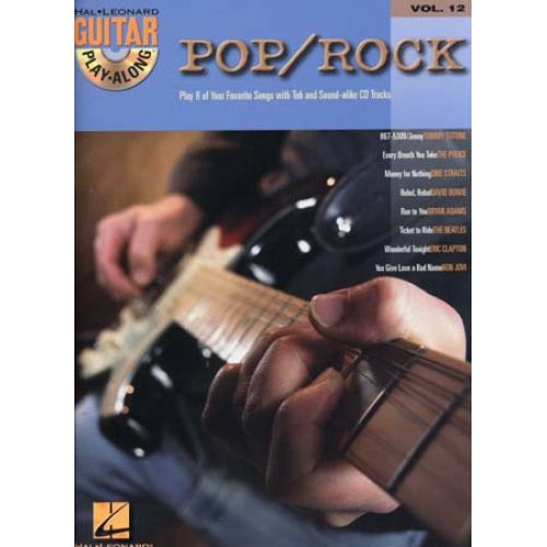 HAL LEONARD GUITAR PLAY ALONG VOL.12 - POP/ROCK + CD - GUITARE TAB