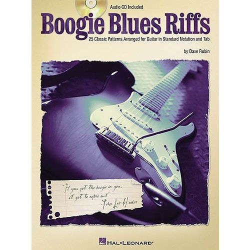HAL LEONARD BOOGIE BLUES RIFFS + CD - GUITAR
