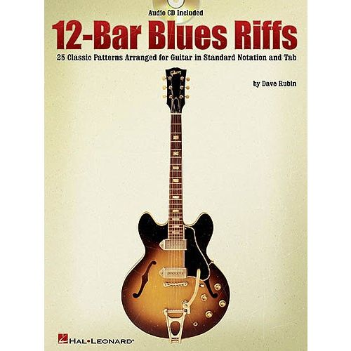 HAL LEONARD RUBIN DAVE - 12 BAR BLUES RIFFS - GUITAR