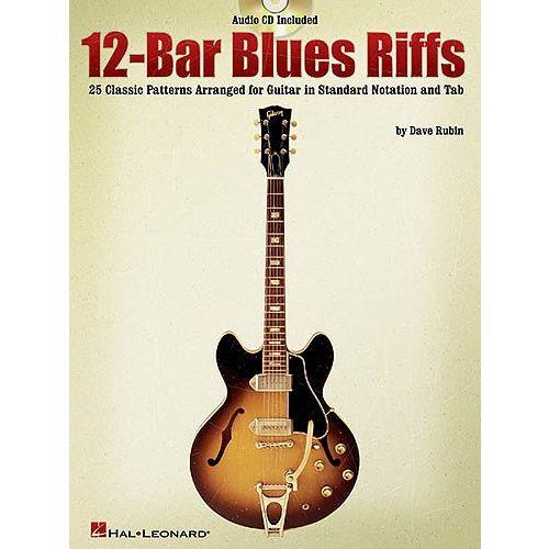 HAL LEONARD RUBIN DAVE - 12 BAR BLUES RIFFS - GUITAR