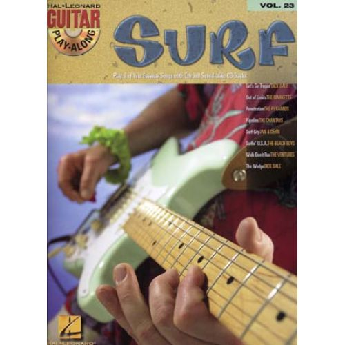 HAL LEONARD GUITAR PLAY ALONG VOL.023 SURF TAB + CD