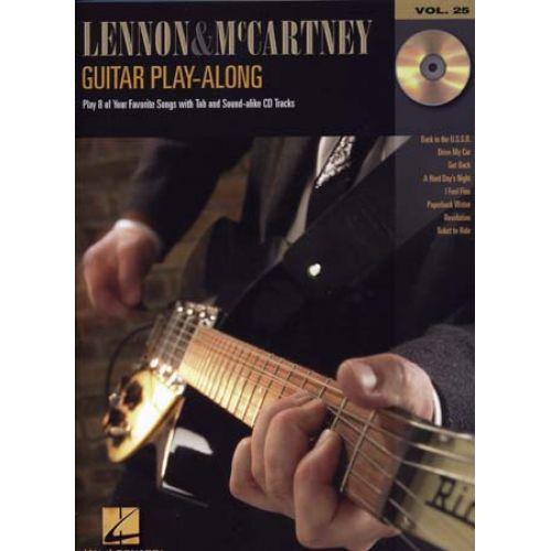HAL LEONARD ANTHOLOGIE : GUITAR PLAY ALONG VOL 25 LENNON & MC CARTNEY