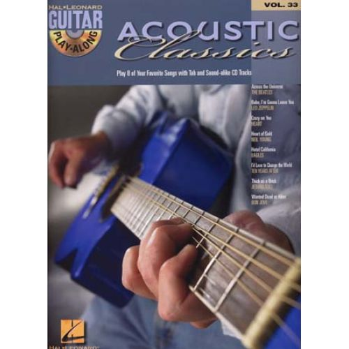 HAL LEONARD GUITAR PLAY ALONG VOL.33 - ACOUSTIC CLASSICS + CD - GUITAR TAB