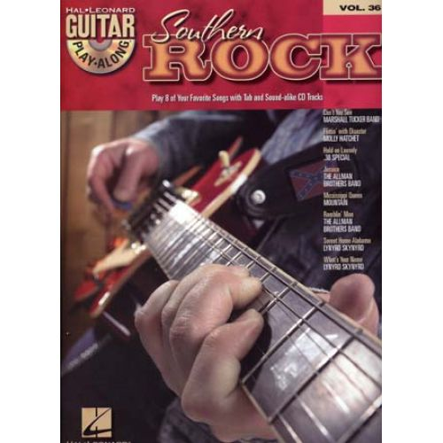 HAL LEONARD GUITAR PLAY ALONG VOL.36 - SOUTHERN ROCK + CD - GUITAR TAB
