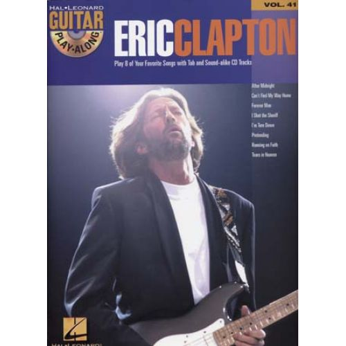 HAL LEONARD CLAPTON ERIC - GUITAR PLAYALONG VOL 41 + CD - GUITAR TAB