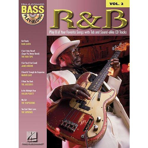 HAL LEONARD BASS PLAY ALONG VOLUME 2 R&B + CD - BASS GUITAR TAB
