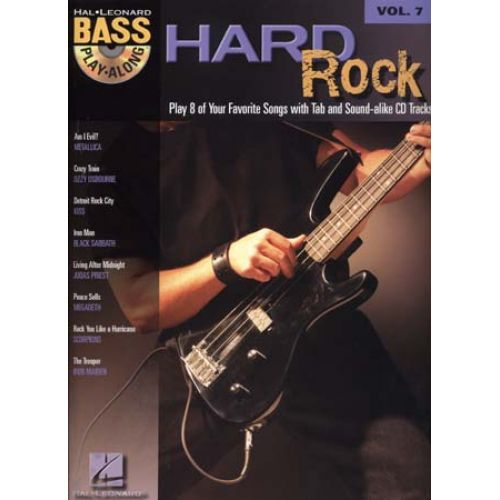 HAL LEONARD BASS PLAY ALONG VOL.7 - HARD ROCK + CD - BASS TAB