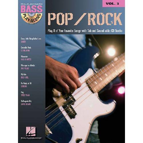 HAL LEONARD BASS PLAY ALONG VOL.3 - POP ROCK