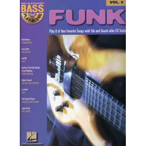 HAL LEONARD BASS PLAY ALONG VOL.5 - FUNK + CD - BASS TAB
