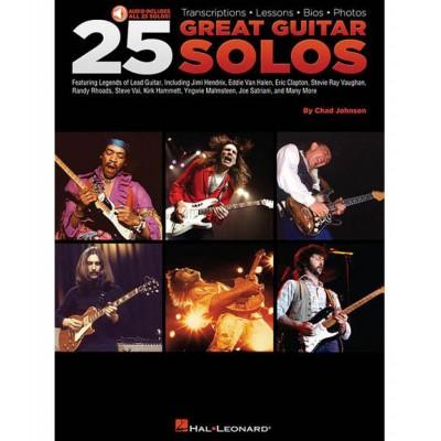 HAL LEONARD 25 GREAT GUITAR SOLOS + MP3 - GUITARE TAB