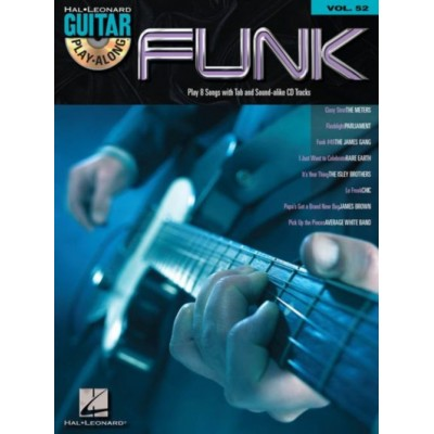 HAL LEONARD GUITAR PLAY ALONG VOL.052 - FUNK + CD - GUITAR TAB
