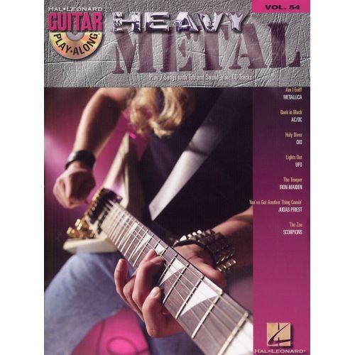 HAL LEONARD GUITAR PLAY-ALONG VOLUME 54 HEAVY METAL + CD - GUITAR