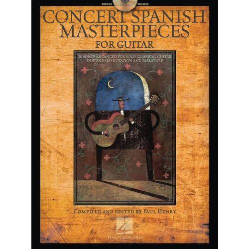 HAL LEONARD CONCERT SPANISH MASTERPIECES + CD - GUITAR